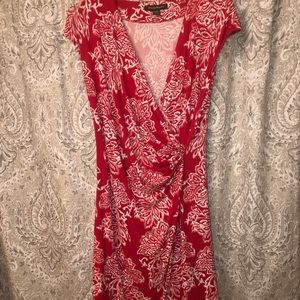 🦄 3 for $35 Tommy Bahama Coral Faux Wrap Dress 🌺
